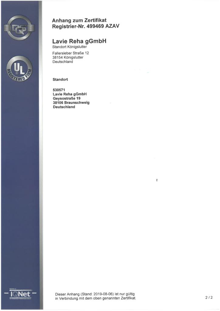 AZAV Zertfikat Seite 2