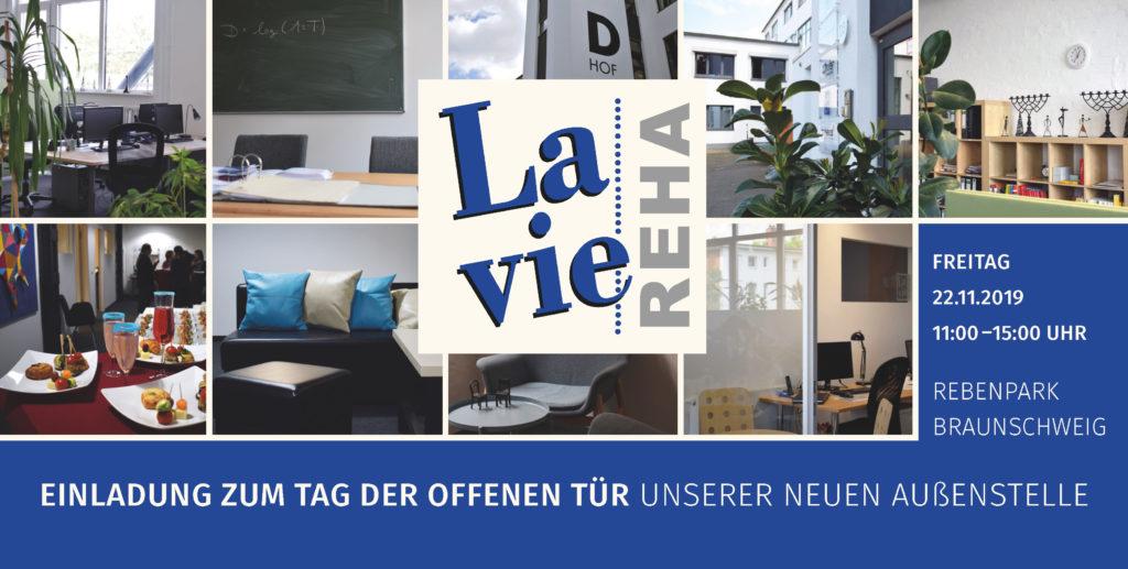 Einladung zur Eröffnung der Lavie Außenstelle Braunschweig